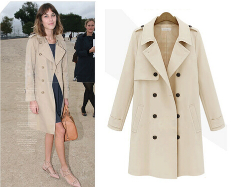 Images of Beige Coat Womens - Reikian