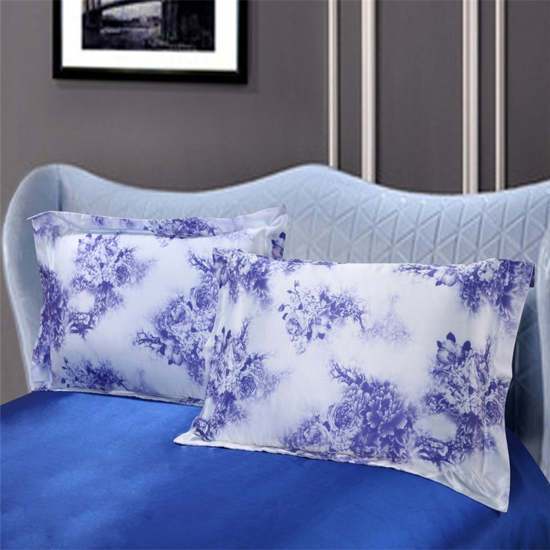 Wholesale Standard Silk Pillowcases Silver Gray Single