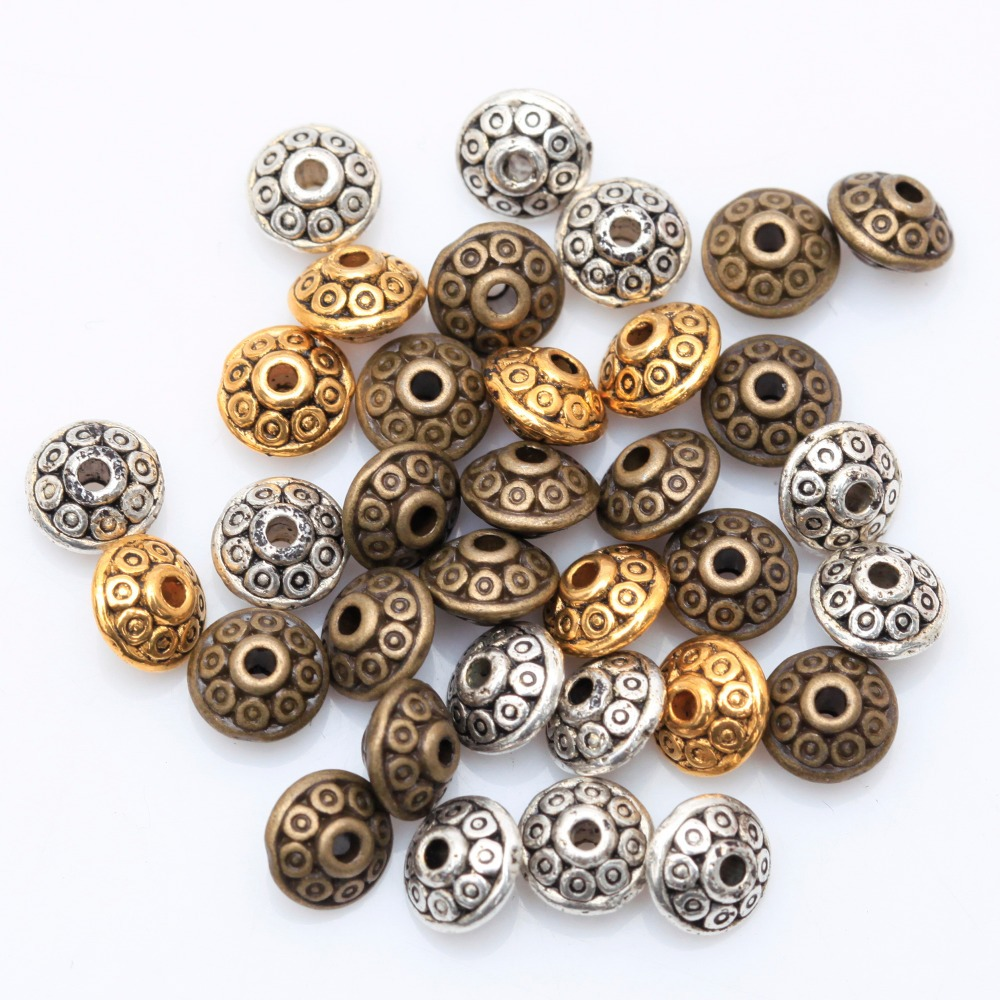 wholesale factory price 100pcs antique metal silver spacer
