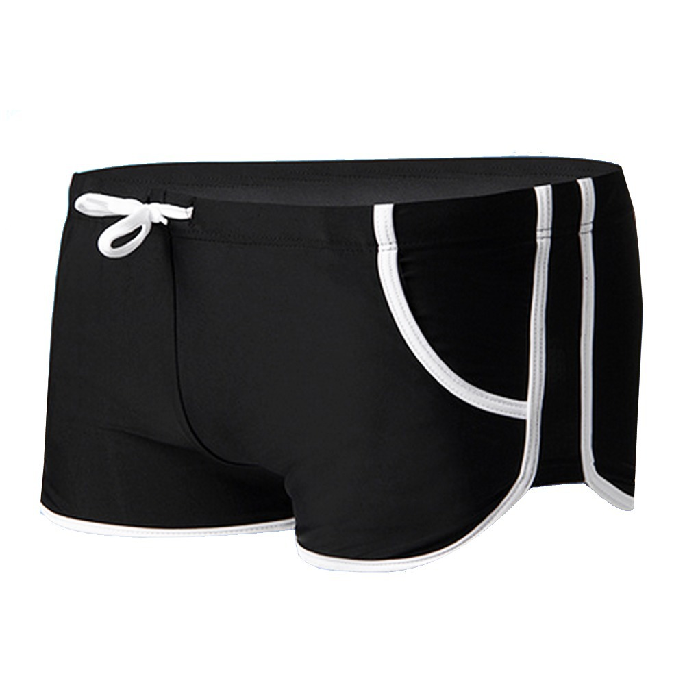 Mens Swimming Shorts Slim Swimsuit Boxer Shorts Trunks Briefs Draw String Waist Front Tie Jockey Shorts Elastic Low Waist(China (Mainland))