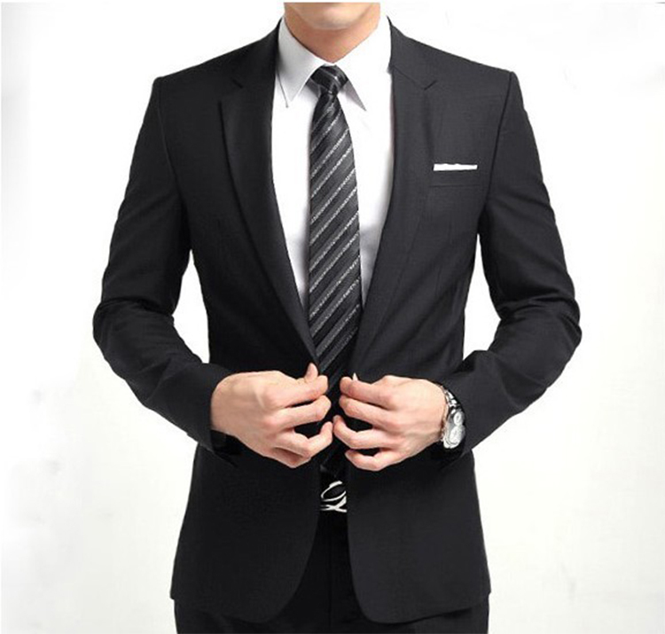 39-Free Shipping New 2015 man suit classic Fashion grooms man suits! Men's Blazer Business Slim Clothing Suit And Pants
