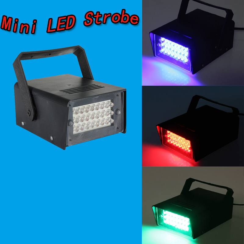 24 LED Mini Stage Lighting Disco Bulb Club Stage Lighting Mini Dj Strobe Light Flash Club Disco Bar Stage House Party Lighting(China (Mainland))