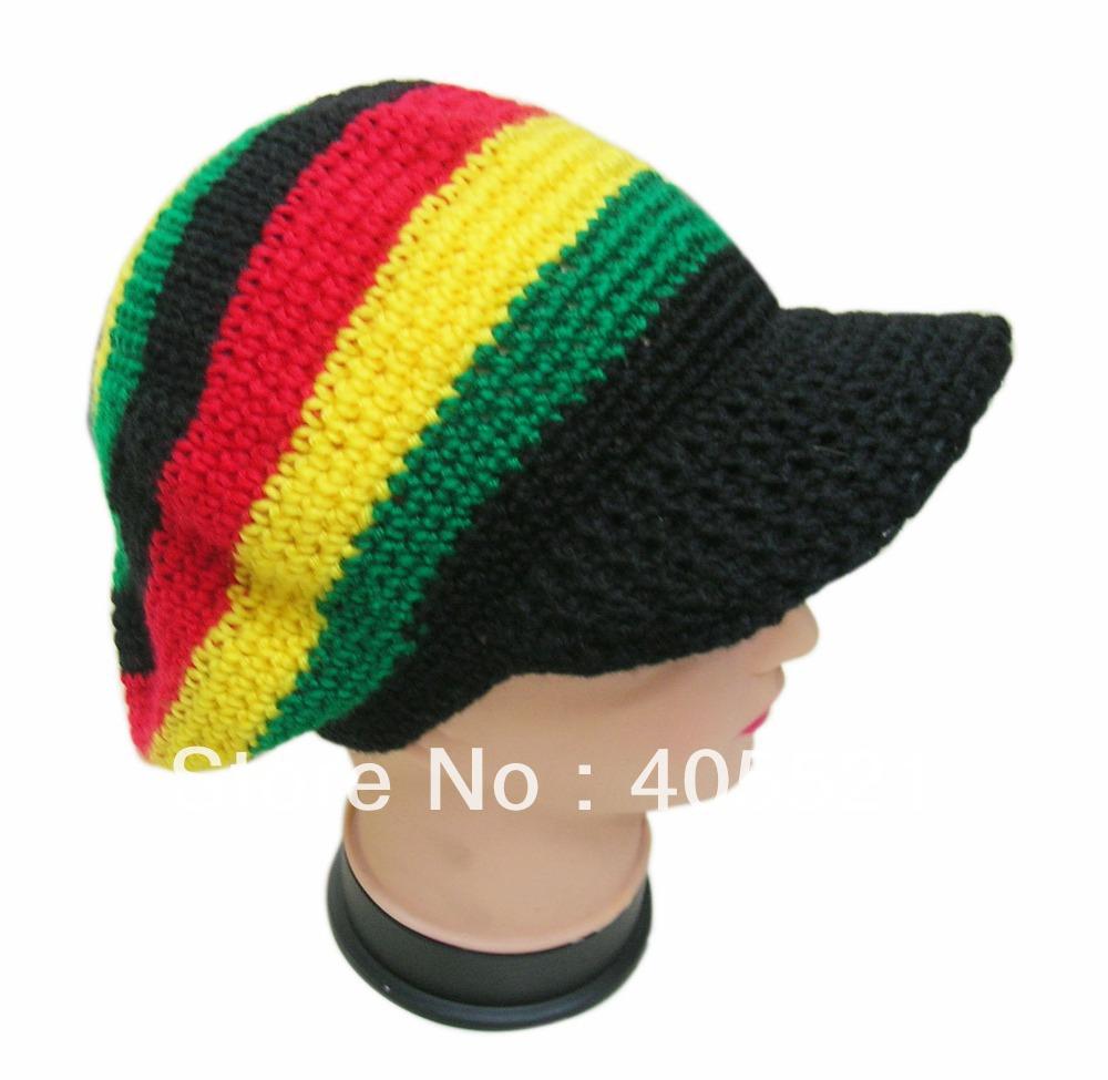 Knitted Scarf Pattern For Beginners : Achetez en Gros crochet rasta chapeau en Ligne a des Grossistes crochet rasta...