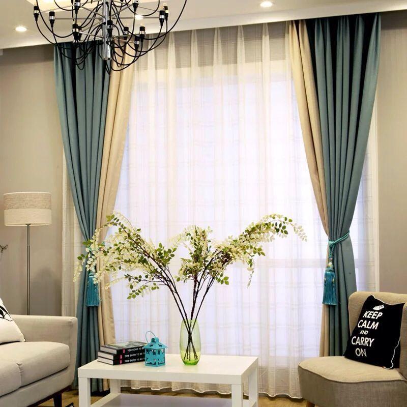 New hot patchwork blackout curtains for living room - Rideaux originaux pour salon ...