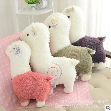 Good Quality 28cm Hot Cartoon Lovely Alpaca Sheep Plush Toy Lovely Stuffed Doll Room Decoration Kids Toy Children Birthday Gift(China (Mainland))