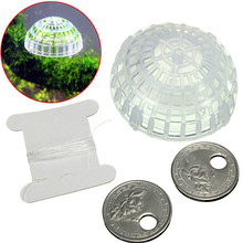 Plastic Transparent Moss Floating Ball Aquarium Fish Tank Nature Live Plants Moss Floating Ball Cultivation 5 x 2cm Aquarium(China (Mainland))
