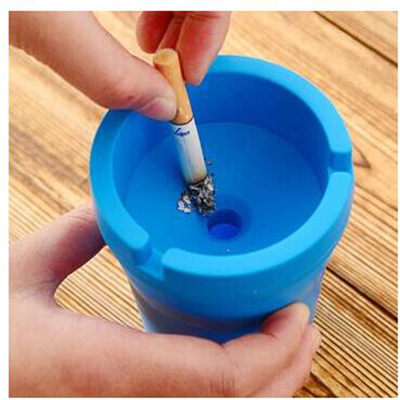 PP Plastic Car Ashtray Creative durable easy clearn Fashion Ashtray for Bathroom Livingroom Car KTY Free Shipping(China (Mainland))