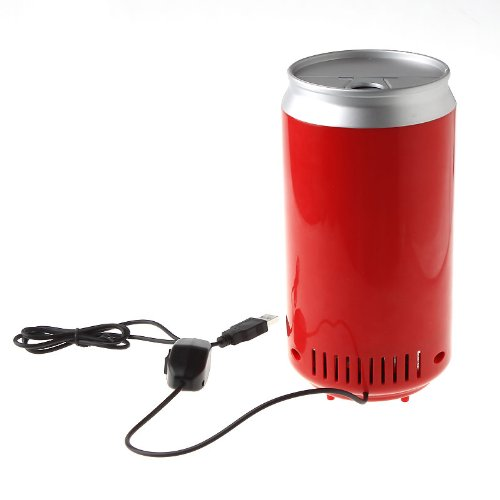 Mini USB PC Fridge Beverage Drink Cans Cooler & Warmer Red 2016 New(China (Mainland))