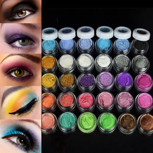 1set Freeshipping Eyeshadow + brush Pigment 30 Colors Eye Shadow Powder Colorful Makeup Mineral new arrival Popular(China (Mainland))