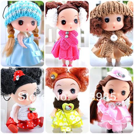 6pcs/lot 12cm tall Confused doll gift mini ddung ddgirl dolls Fashion Popular dolls plastic girl gift dolls toys Free shipping(China (Mainland))