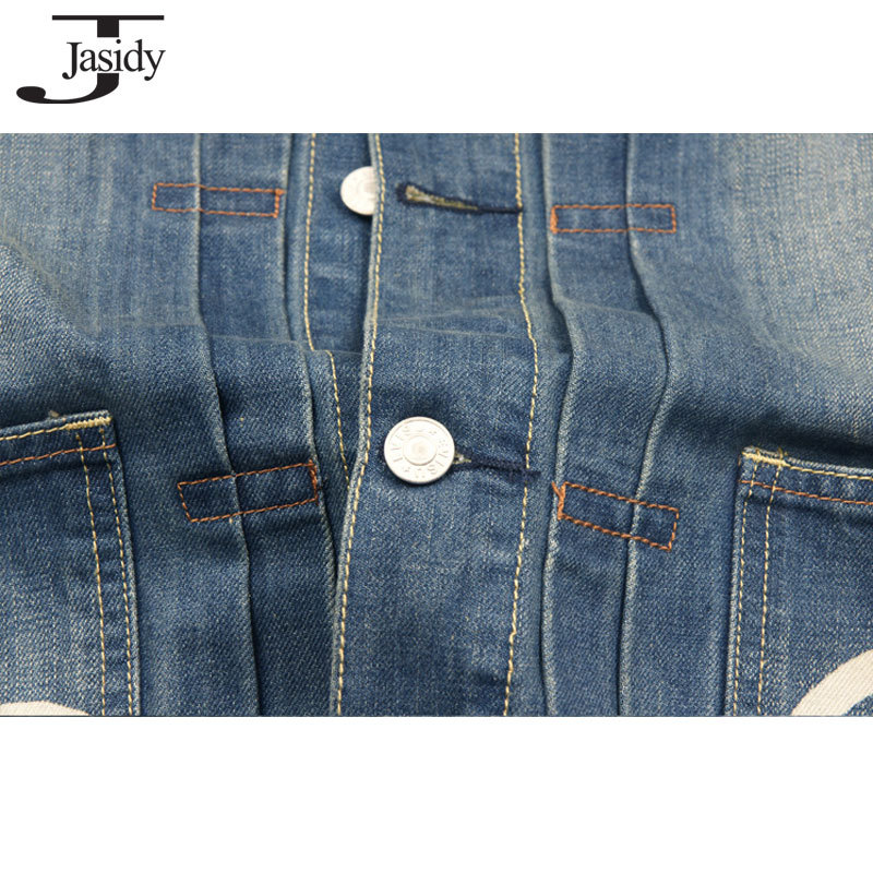 Print jeans jacket men Long Sleeve Turn down Collar Mens Denim Jacket Cotton Thick Spring Autumn