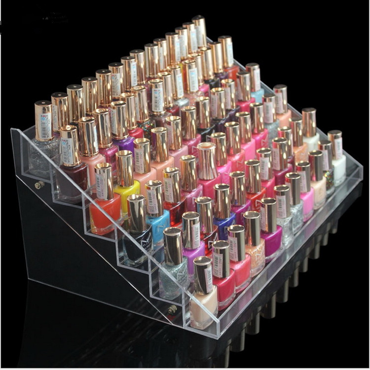 6 tiers large acrylic cosmetic display cabinet, nail polish display stand(China (Mainland))