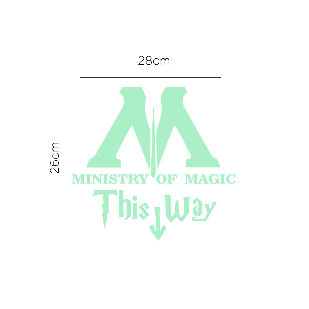 Ministry of Magic This Way Vinyl Decal Harry Potter Star Wars Toilet Sticker Wall Quote Art Deals for Bathroom Decor