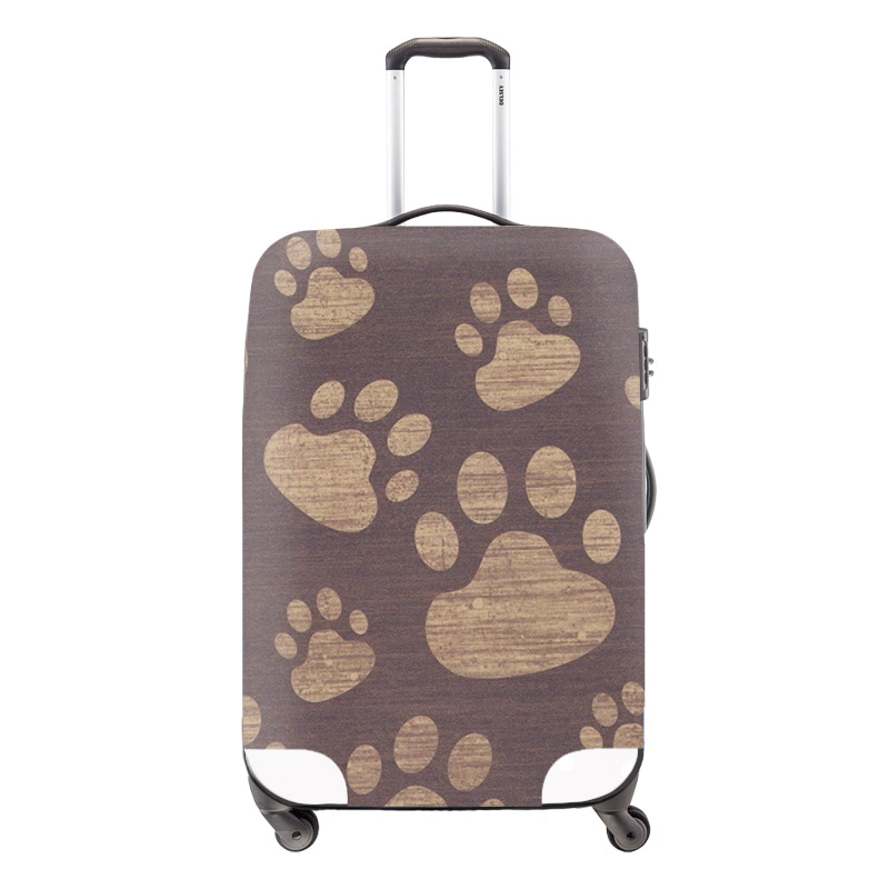 New 3D Aniaml Footprints Trolley Accessories Elastic Waterproof Luggage Set Cover 18-30 inch Suitcase Cat Protective Dust Cover<br><br>Aliexpress