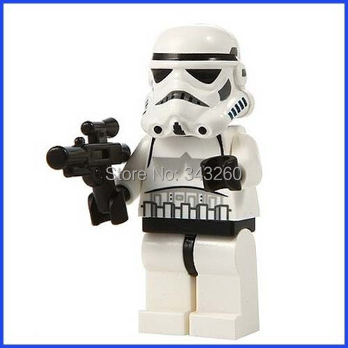 Купить Игрушки и Хобби  10PCS/lot STAR WARS Minifigure Brick toys White Stormtrooper minifigs with gun Strom Trooper solider figure building block toys None