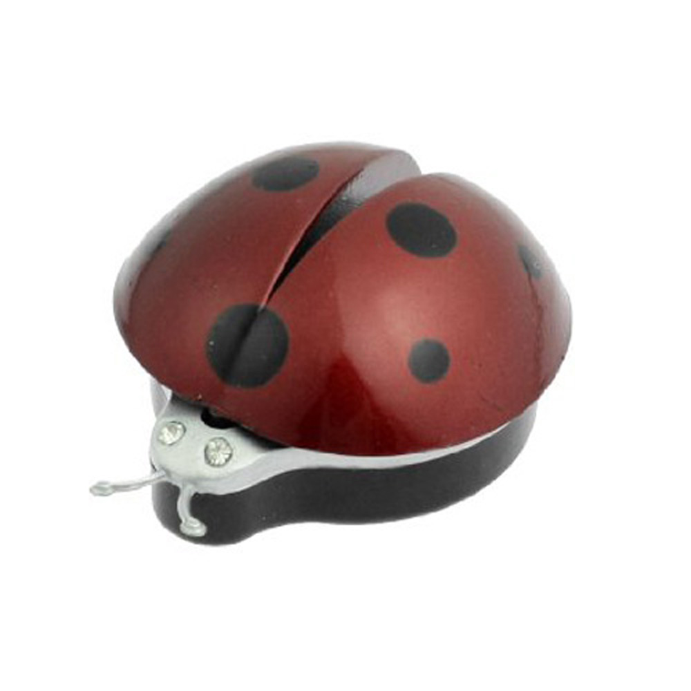 In Stock,New Dark Red Plastic Car Air Vent Ladybug Design Fragrance Purifier Freshner(China (Mainland))