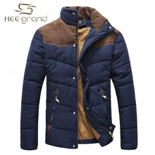 2014 Hotsale Men Winter Splicing Cotton-Padded Coat Jacket Winter Plus Size Parka High Quality MWM169