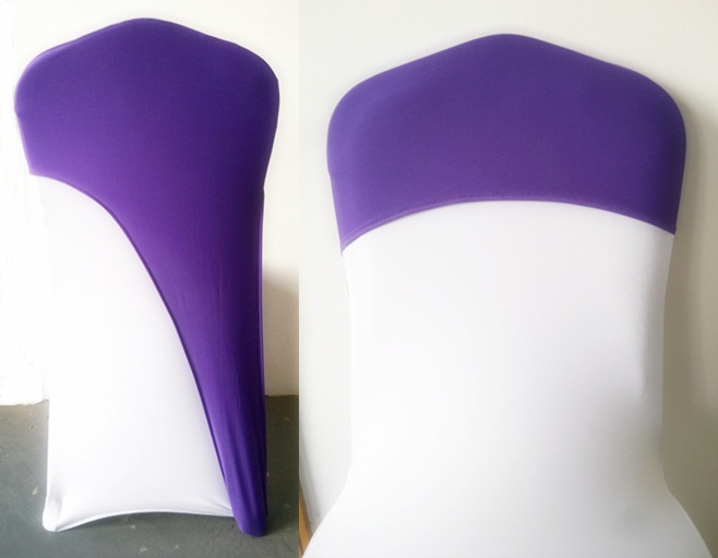 chair caps for weddings,spandex chair cover fit all chairs wedding decoration,Purple colour,free shipping chair sash hood(China (Mainland))