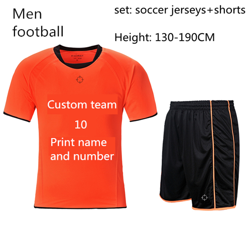 soccer jerseys sets Men football jerseys suits print numbers and players custom for children and adults Height 130-190CM(China (Mainland))