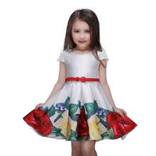 Buy Baby Girls Dress Sleeveless 2015 Rose Flower Kids Clothes Girls Dresses Spring Brand Princess Dress Children Clothing Christmas for $10.81 in AliExpress store