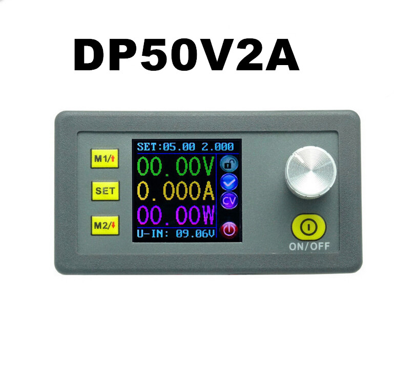 Digital Constant Voltage Current Step-down DP50V2A    regulator Supply module buck color LCD display converter <br><br>Aliexpress