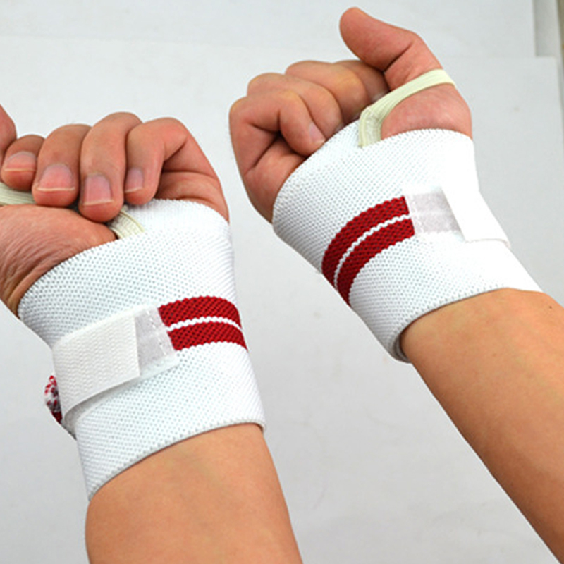 2015 A Pair Safety Gym Weight Lifting Gloves Fitness Wrist with non-slip wrist strap to help pull grip tape For Traning Sports(China (Mainland))
