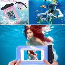 100% Sealed Waterproof Bag Case Pouch Phone Cases for iPhone 6/6s Plus/5 5S Samsung Galaxy S6/S5/S4/ Samsung Note 5/4/3/2(China (Mainland))