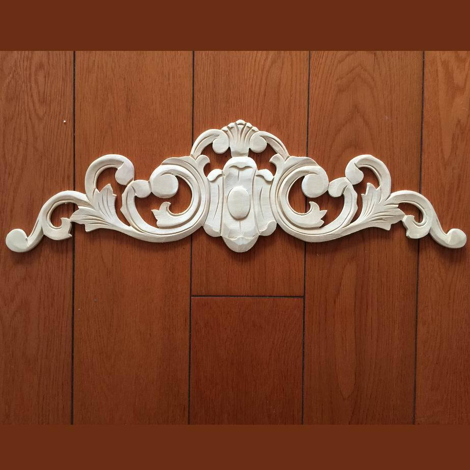 Wooden carving fashion furniture flower decoration solid wood kitchen cabinet gate flower sofa dining table applique wafer(China (Mainland))