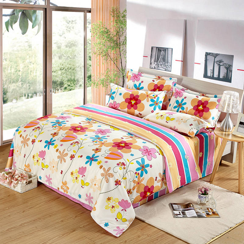 C4-065 luxury Bed Sets Queen Bedding Suite 4pcs Cotton Duvet Cover Quilt Cover Bed Sheet Confort Bedding Set(China (Mainland))