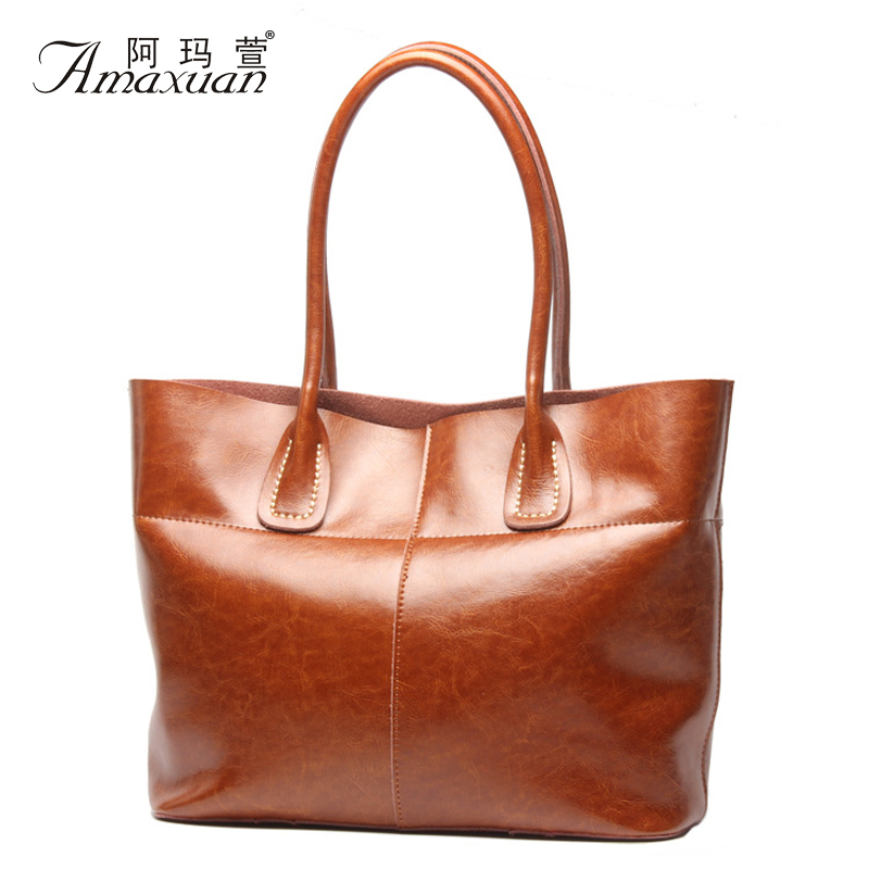 New Arrival Fashion Classical Brand Design Genuine Leather Women Handbags Leather Bags Shoulder Bags Casual Tote BH1212