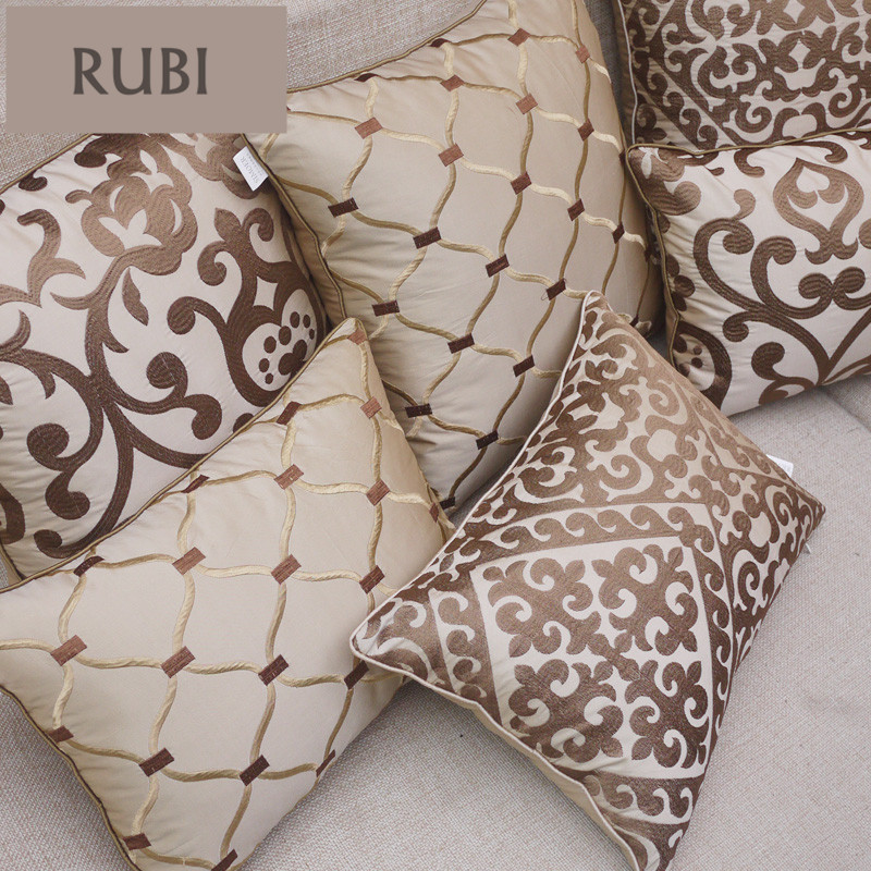 European embroidery cushions luxury decorative throw - Cojines modernos para sofas ...