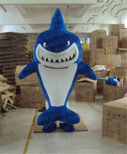 blue shark fish mascot costume halloween costumes party costume dinosaurs fancy dress christmas gift