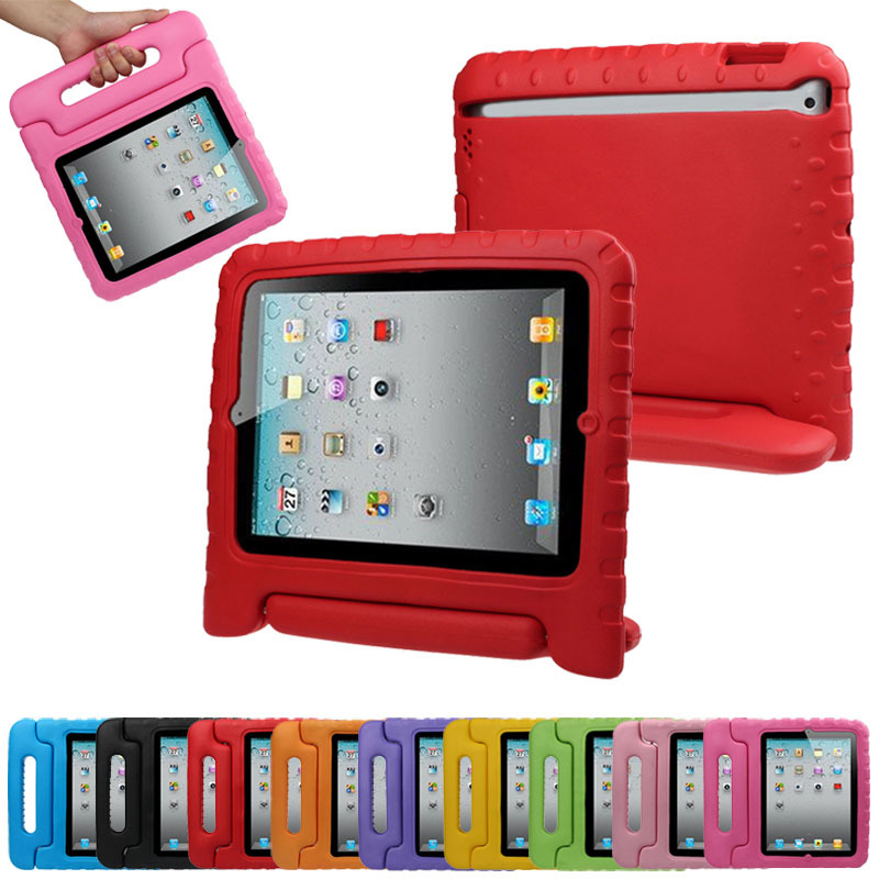 Scolour Multifunction Kids Shock Proof Handle Protective Case For iPad 2 3 4(China (Mainland))