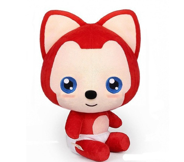 new arrival Kawaii Fox stuffed plush toys valentine gift 38cm wholesaler(China (Mainland))