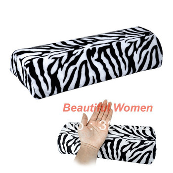 New Zebra Stripe Soft Hand Cushion Pillow Rest for Nail Art Manicure Half Column Free Shipping 4905 3F