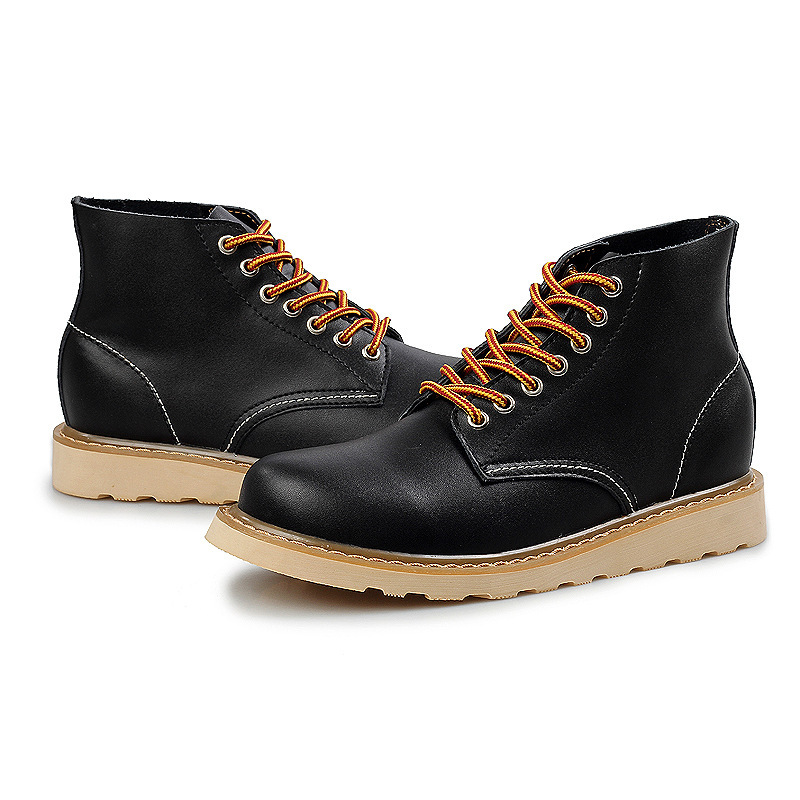 mens casual boots cheap fashion wedge high heels travel