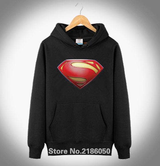Hoodie Coat sweatshirt Mens Fashion New Superman MOS Shield New Man Of Steel Movie 2016 Adult Slim Fit S-XXXL(China (Mainland))