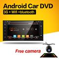 2 din car dvd player gps navigation for TOYOTA Corolla Camry Rav4 Vios HILUX Prado Android