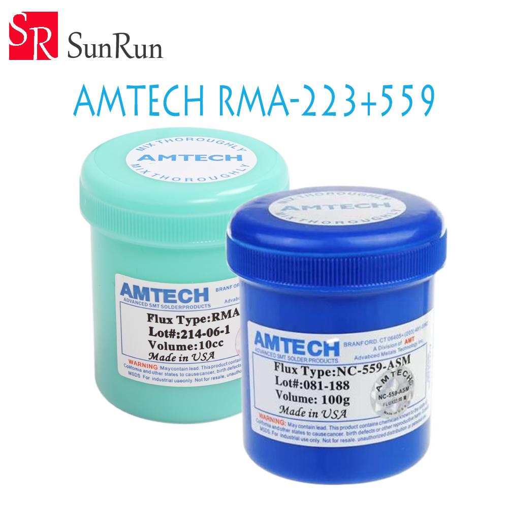 2 in 1 AMTECH RMA-223+559 Leaded bga solder paste No-Clean BGA Reballing Solder Ball Repair Solder Soldering Flux Paste 100g(China (Mainland))
