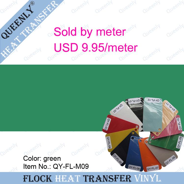 Flock heat transfer vinyl flock film for clothing sold by meter 5 meters/pack width 50cm(China (Mainland))