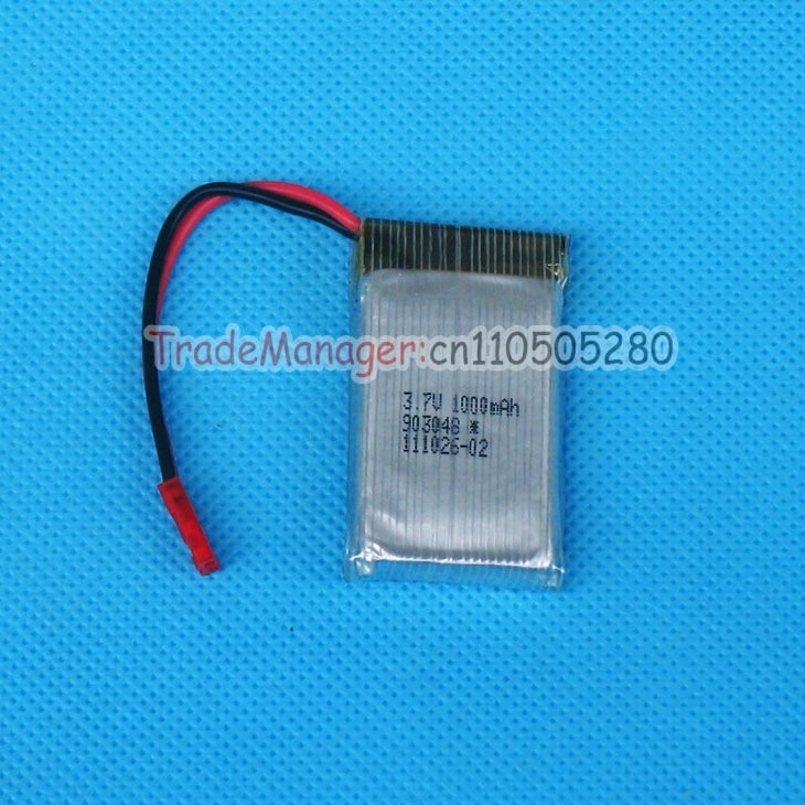 Direct marking SYMA S006 battery 3.7V 1000mAh spare parts for Syma S006 / S006G RC helicopter free shipping(China (Mainland))