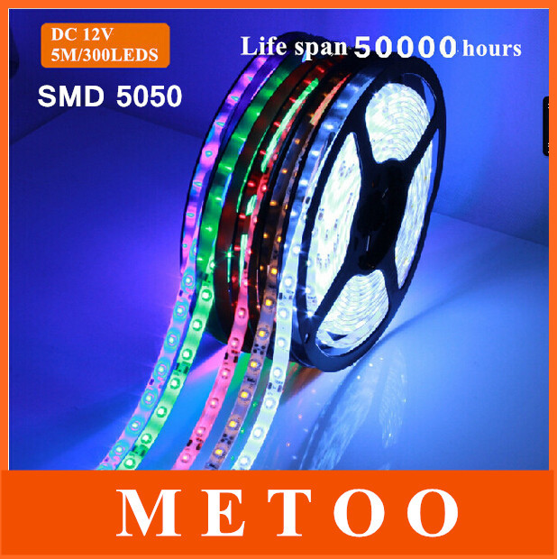 Светодиодная лента Metoo 5M RGB 5050 smd/60led/300leds DC 12V SMD 5050 drawstring cocoon jersey maxi dress