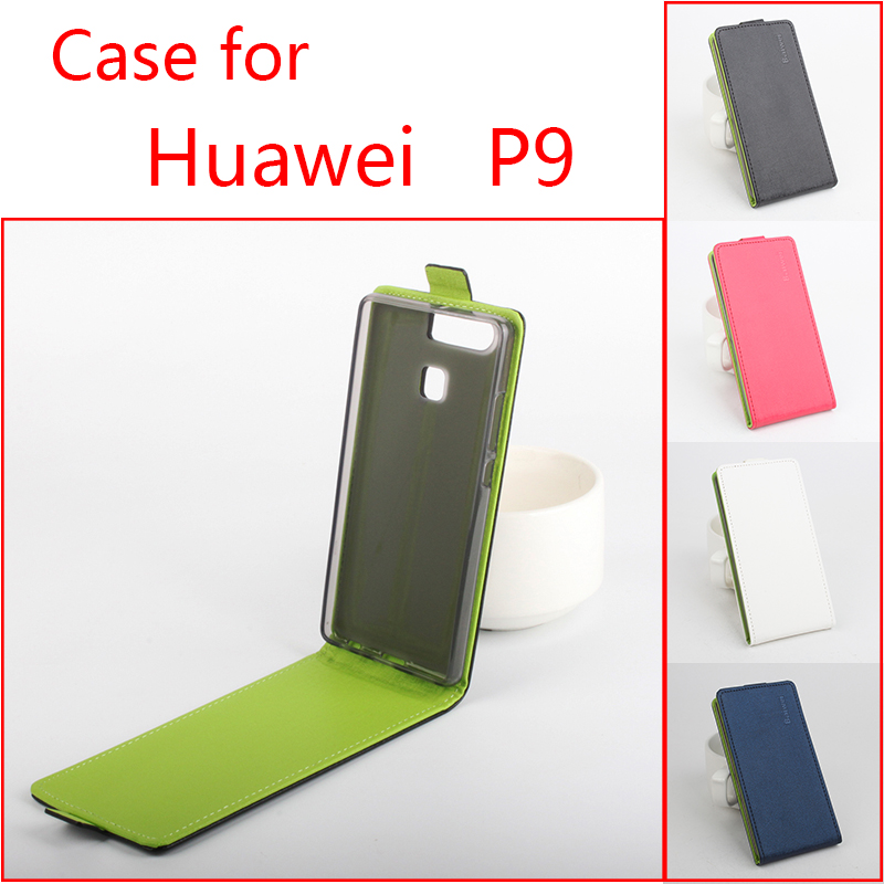 4 Hit Colors Design PU Leather Cell Phone Accessories Huawei P9 Holster Flip Wallet Case Cover For Huawei P9 Skin Shell(China (Mainland))