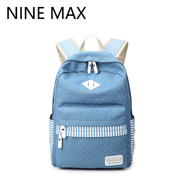 High Quality Ethnic Dots Backpack for School Teenagers Girls Vintage Stylish School Bag Ladies Backpack Female Fashion Satchel(China (Mainland))