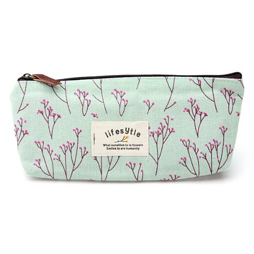 TEXU Countryside Flower Floral Pencil Pen Case Cosmetic Makeup Bag<br><br>Aliexpress
