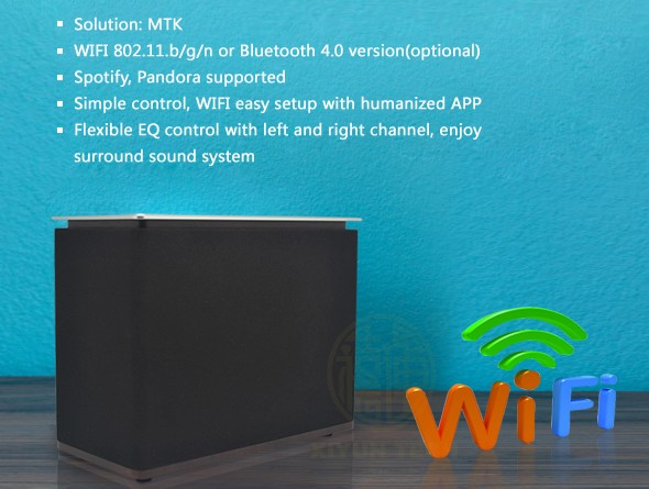 20W wifi mini portable speaker for multi-room quality hifi radio support IOS/Android stereo active luidspreker(China (Mainland))