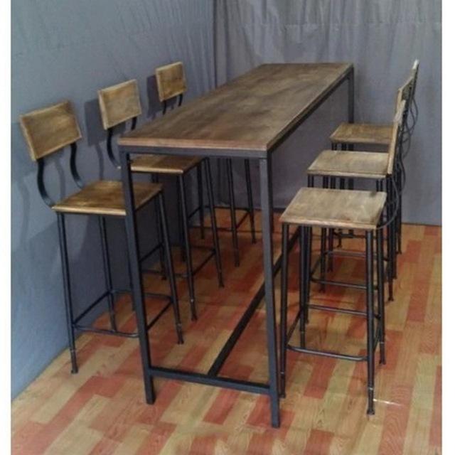 Nordic amerikaanse land vintage houten bar tafels en stoelen en koffie tafels en stoelen te doen - Tafel en stoelen dineren ...