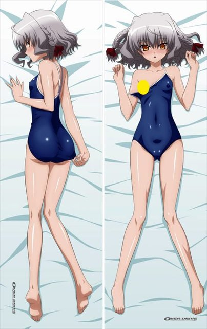 Anime Dakimakurawith:OVER DRIVE hugging  pillow case