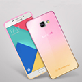 Fashion Soft TPU Gradient Color Back Cover Case For Samsung Galaxy A3 A5 A7 2016 2017