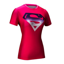Buy Marvel Women Armour T-shirt Superhero Superman Compression T Shirt Female Fitness Tights Tee Shirts Tops for $6.90 in AliExpress store